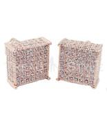 Mens 14K Rose Gold Fin Lab Diamond 3D Square Cu... - $42.56