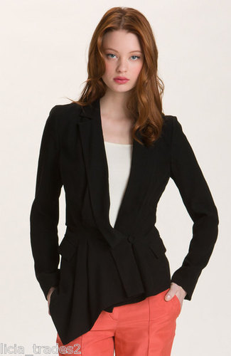 RACHEL ROY Drape Black 10 Restructured 498 Jacket