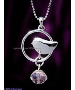 Bird Swarovski Crystal Necklace with WHITE  - $7.99