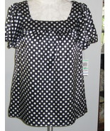 Style & Co Cute Polka Dot Tunic Blouse Size 8 NWT - $19.00
