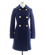 NEW J CREW Wool STADIUM-CLOTH MOD COAT trench 8... - $179.99