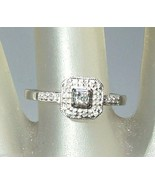 Diamond Halo Engagement Ring White Gold 10kt - $168.88