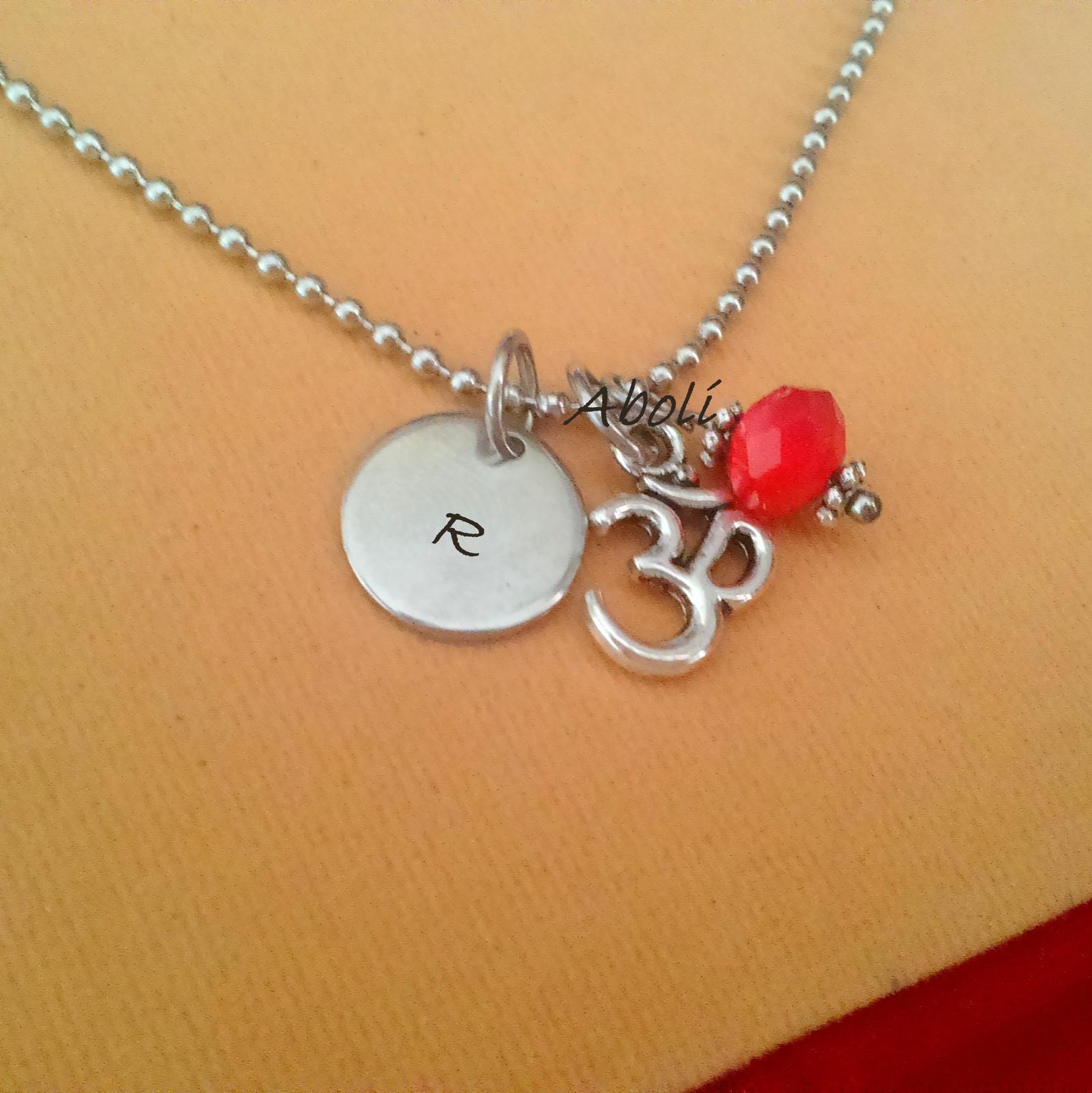 Personalized Om Necklace Yoga Jewelry Meditation Spiritual