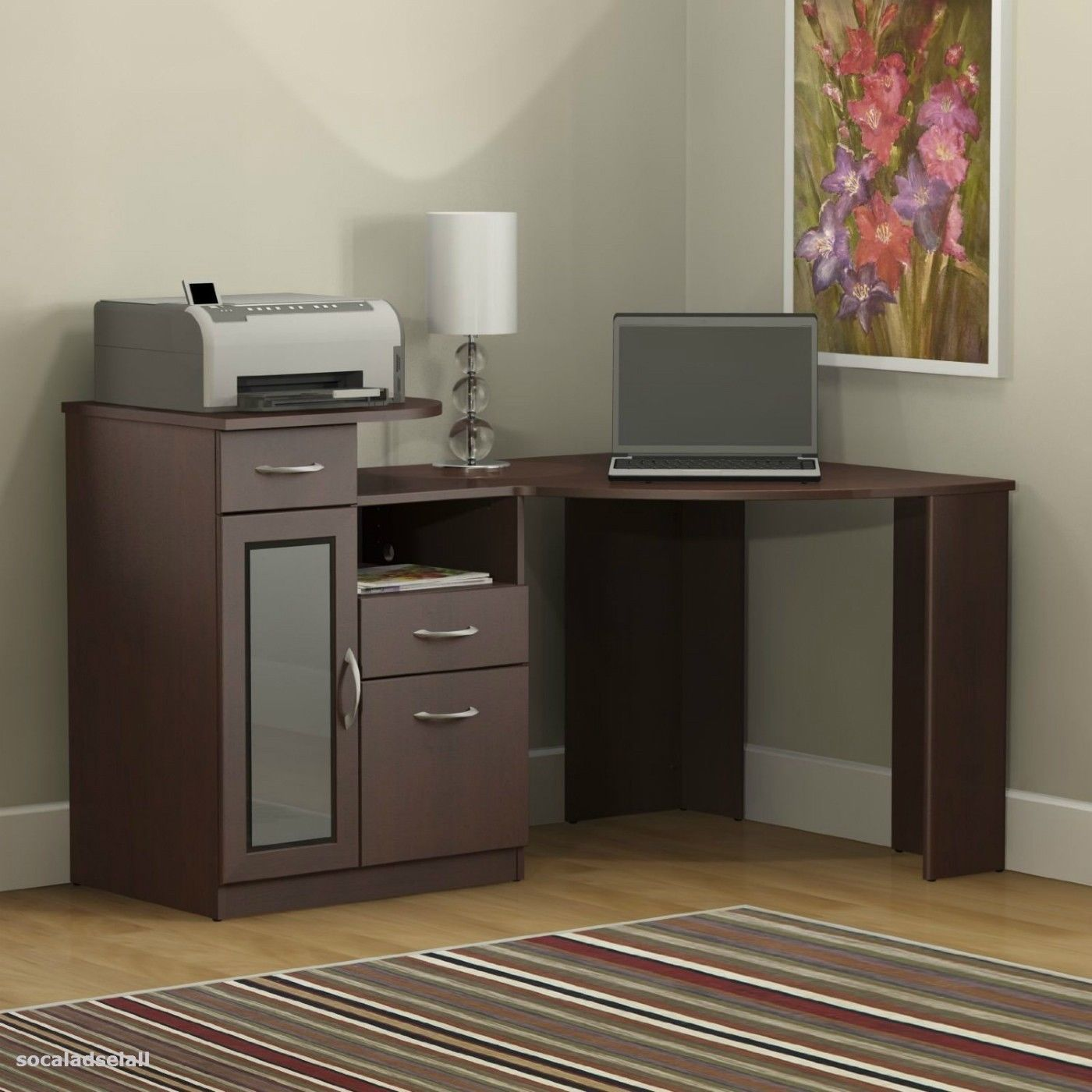 Image Result For Desk With Printer Drawer