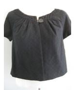 Style & Co Black Short Sleeve Cropped Jacket Si... - $26.00