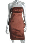 $148 CK bronze strapless tiered dress 6 NWT - $44.95