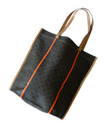 Cole Haan Canvas & Vachetta Leather Folding Mar... - $40.00