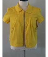 Style & Co Yellow Short Sleeve Zipper Jacket To... - $27.00