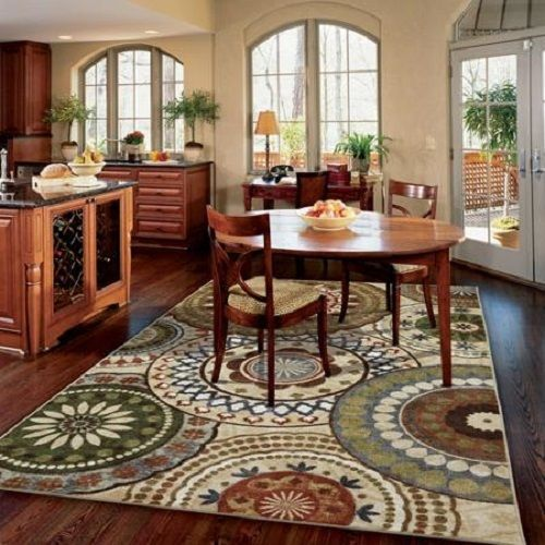 Mohawk area rug carpet nylon multi large 8x10 dining for Dining room rugs 5x7