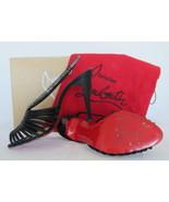 $885 AUTH Louboutin Bretelle Strass satin sling... - $294.95