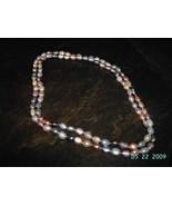 Pearl Necklace Strand Multi Color Genuine Pearl... - $35.00