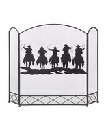 Western Cowboys Fireplace Screen - $80.00