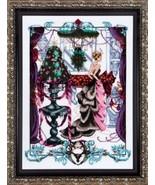 Christmas In Loncon MD136 FULL LINEN KIT cross ... - $80.95