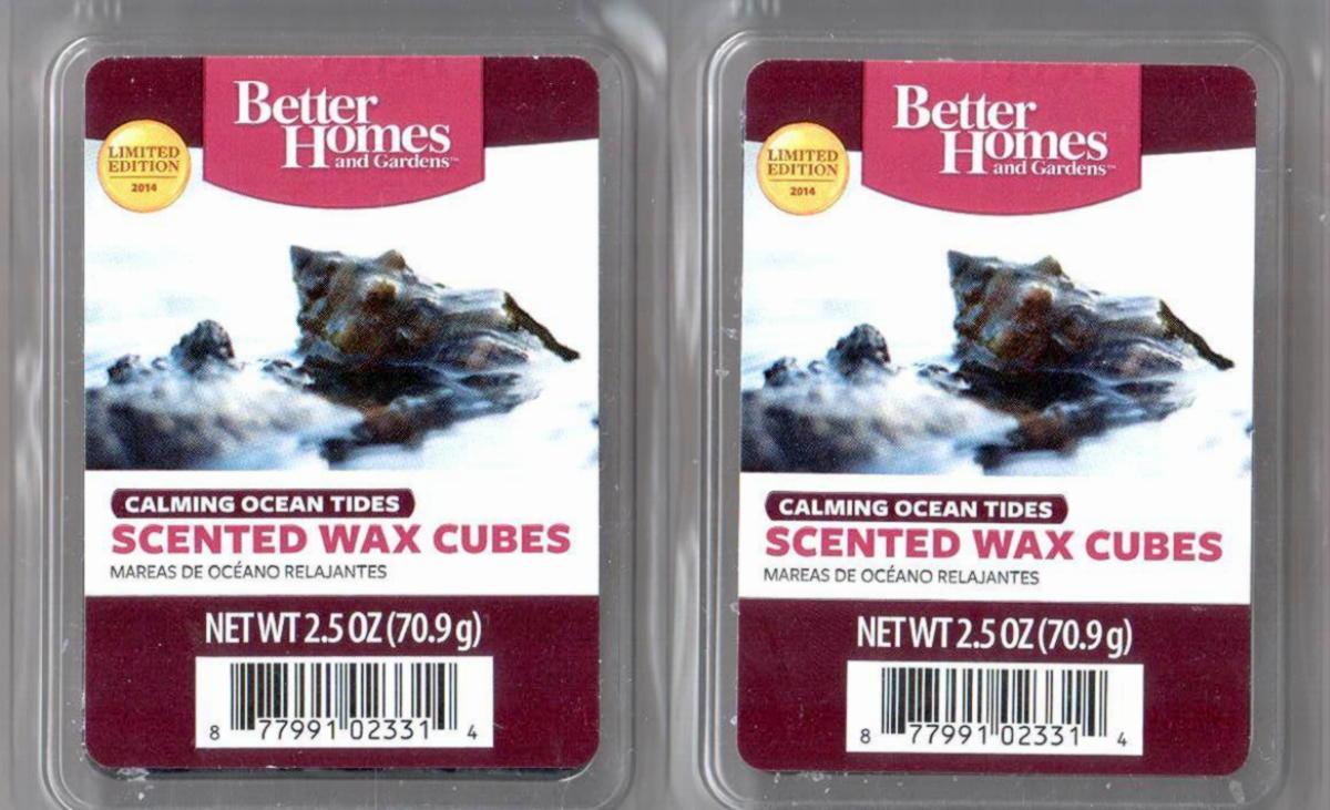 Calming ocean tides better homes and gardens scented wax for Better homes and gardens scented wax cubes