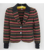 IISLI Nordic sweater jacket 6 Wool bl knit Pink... - $49.99