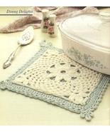 X562 Crochet PATTERN ONLY Fleur-De-Lis Potholde... - $7.45