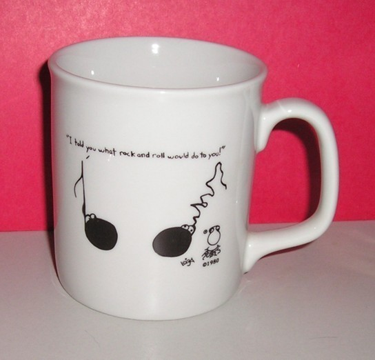 Leigh Rubin Cartoon Coffee Mug Plus Matching Notepad