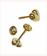 Baby or Child's 18K Skillus Gold Puffed Heart S... - $11.59