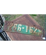Antique 1929 Wisconsin License Plate # 266 - 162c - $55.00