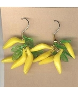 BANANA BUNCH EARRINGS - Funky Monkey Tropical F... - $6.97