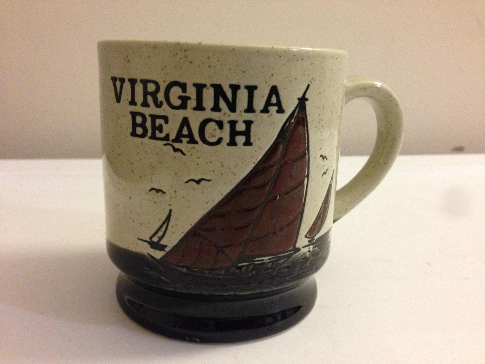 Vintage virginia beach sailboat stoneware mug coffee tea for Michaels arts and crafts virginia beach