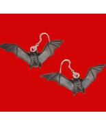 BAT EARRINGS Black Dracula Vampire Gothic Occul... - $7.97