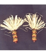 INDIAN CORN BEAD EARRINGS-Thanksgiving Harvest ... - $9.97