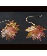 MAPLE LEAF LEAVES EARRINGS-Thanksgiving Fall Tr... - $6.97