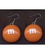 m&m EARRINGS-Chocolate Candy Junk Food Charm Co... - $6.97