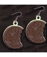 OREO COOKIE EARRINGS-Vintage Food Gumball Charm... - $12.97