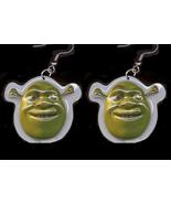 SHREK EARRINGS-Punk Ogre Monster Charm Funky No... - $6.97