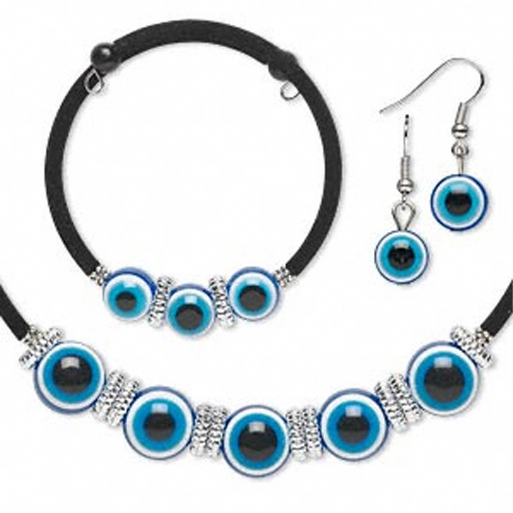 EVIL EYE JEWELRY SET-Cosplay Costume-Necklace-Bracelet-Earrings