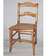 Charming Old Childs Chair with Hand Caned Seat - $95.00