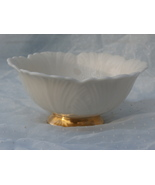 Lenox Footed Dorian Bowl, White with Gold, Made... - $12.99