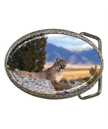 COUGAR MOUNTAIN LION PANTHER BELT BUCKLE CHROME... - $12.99