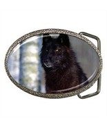 MAJESTIC BLACK WOLF BELT BUCKLE CHROME FINISH - $12.99