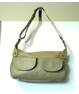 MAXX Tan Leather Handbag Purse Medium Large - $19.59