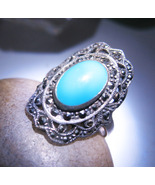 Haunted RING BANISH HEAL EMPOWER DJIN GUIDES MAGICK Spell 925 TURQUOISE Cassia4 - $41.50