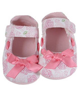 Adorable White w/Pink Roses Mary Jane Baby Girl... - $12.60