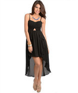 Sexy Hi-Lo Party Ruffled Maxi Cocktail Club Cru... - $32.99