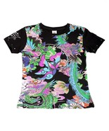 Super Cute Ed Hardy Girls Black Tee Shirt w/Bir... - $23.99