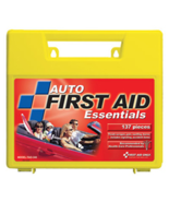 137 Piece Auto First Aid Kit in Large Plastic Case - $21.39