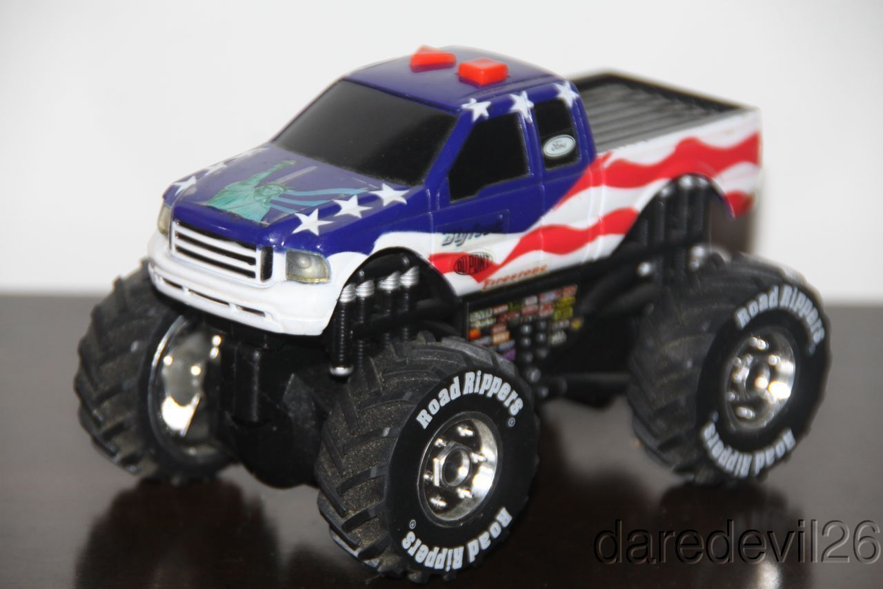 toy state bigfoot ford f 150 usa flag monster truck. Black Bedroom Furniture Sets. Home Design Ideas