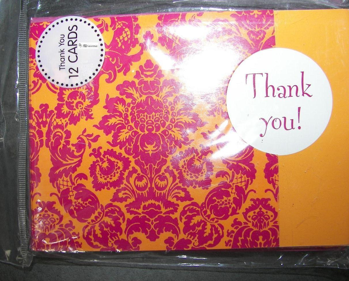 THANK YOU Cards 12 Count with Envelopes