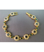 Joan Rivers QVC Flower Bracelet Sapphire and Em... - $49.49