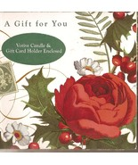 Holly Rose Tealight Votive Candle in Gift Card ... - $6.00