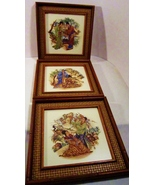 Framed Art Tile Japanese Style 1960s Greenville... - $59.99