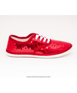Sequin CVO Canvas Red Sneakers Tennis Shoes by ... - $39.99