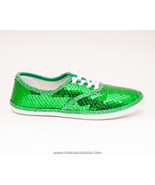 Sequin CVO Kelly Green Canvas Sneakers Tennis S... - $39.99