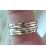 Handmade stack rings/bands 14k yellow gold f. &... - $59.40